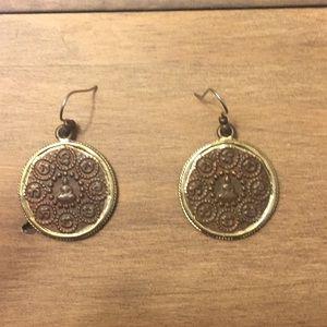 Lucky Brand medallion earrings